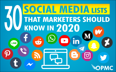 30 Social Media Lists that Marketers Should Know in 2020